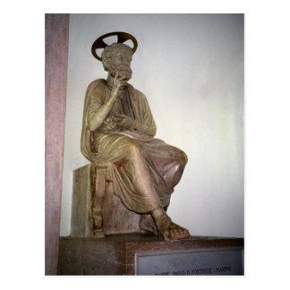 Estatua de San Pedro en catacumba debajo de San Pe Postales