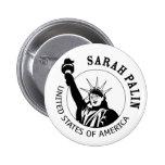Estatua de Sarah Palin de la libertad Pins