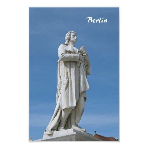 Estatua de Schiller en Berlín Fotografía