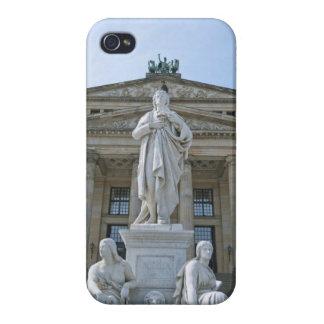 Estatua de Schiller en Berlín iPhone 4 Cárcasas