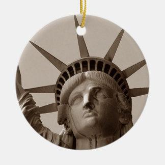Estatua de señora Liberty del puerto de Nueva York Ornamentos De Reyes Magos