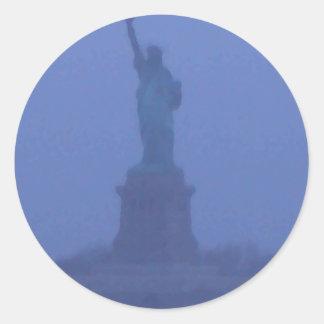 Estatua de señora Liberty libertad los E E U U Am Pegatinas