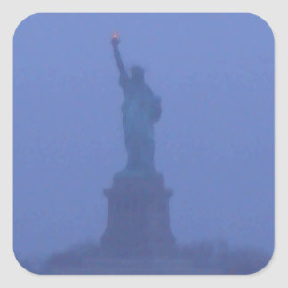 Estatua de señora Liberty libertad los E.E.U.U. Am Pegatinas Cuadradases