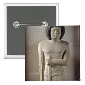 Estatua de Sepa, viejo reino (piedra caliza pintad Pin Cuadrado