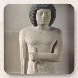 Estatua de Sepa, viejo reino (piedra caliza pintad Posavasos De Bebida
