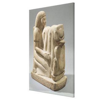 Estatua de Setau que presenta a la diosa Nekhb de Impresiones De Lienzo