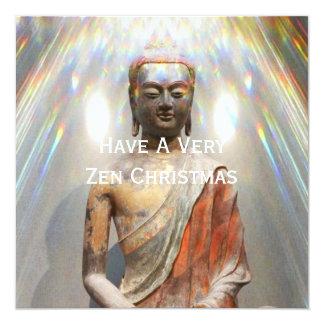 """Estatua de Siddhartha Gautama Invitación 5.25"""" X 5.25"""""""