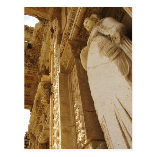 Estatua de Sophia, biblioteca de Celsus, Ephesus Postales