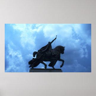 Estatua de St. Louis en Forest Park Póster
