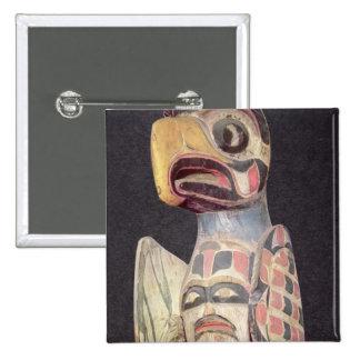 "Estatua de ""Thunderbird"" del Haida (madera pintada Pins"