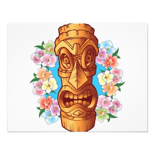 Estatua de Tiki del dibujo animado Comunicado Personal