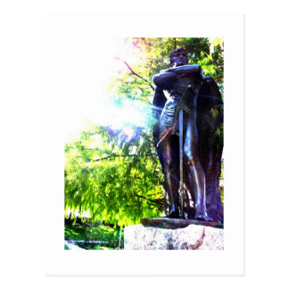 Estatua de un ángel tarjeta postal
