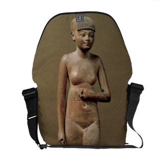 Estatua de un chica de criado joven (madera) bolsas de mensajeria