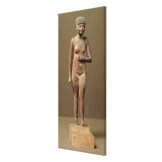 Estatua de un chica de criado joven madera lienzo envuelto para galerias