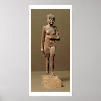Estatua de un chica de criado joven (madera) póster