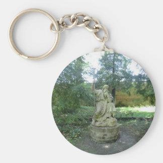 Estatua de un druida Galés en Erddig Pasillo Llaveros