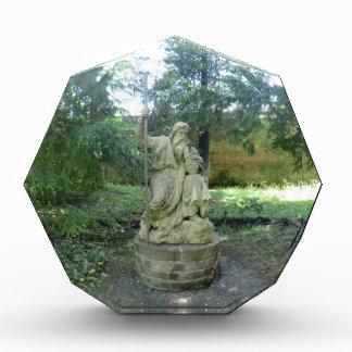 Estatua de un druida Galés en Erddig Pasillo