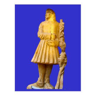 Estatua de un fabricante del vino; Región del vino Postal