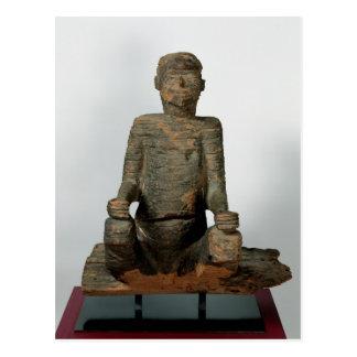 Estatua de un hombre asentado, Mbembe, Nigeria Tarjeta Postal