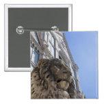 estatua de un león con la fachada de Santa Croce Pin Cuadrado
