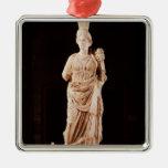 Estatua de una diosa protectora adorno de navidad