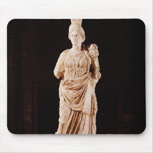 Estatua de una diosa protectora alfombrillas de ratones