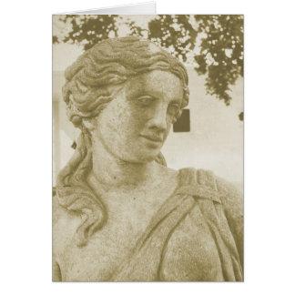 Estatua de una señora, Washington, Iowa, Tarjeta De Felicitación
