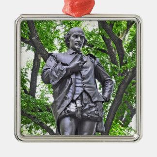 Estatua de William Shakespeare en Central Park Adornos De Navidad