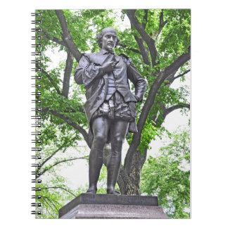 Estatua de William Shakespeare en Central Park Note Book