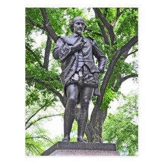 Estatua de William Shakespeare en Central Park Tarjetas Postales