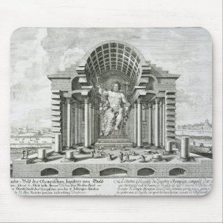 Estatua de Zeus olímpico, hecha por Phidias en el  Alfombrillas De Ratón
