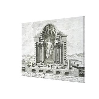 Estatua de Zeus olímpico, hecha por Phidias en el  Impresión En Lienzo