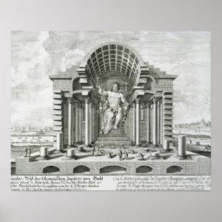Estatua de Zeus olímpico, hecha por Phidias en el  Impresiones