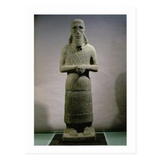 Estatua dedicada a dios Haddad-Yishi (basalto) Postal
