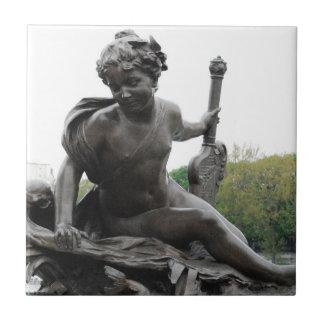 Estatua del ángel de la querube en París Tejas Ceramicas