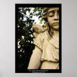 Estatua del ángel del bebé posters