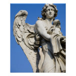 Estatua del ángel, Ponte Sant'Angelo, Roma, Italia Posters