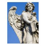 Estatua del ángel, Ponte Sant'Angelo, Roma, Italia Tarjeta Postal