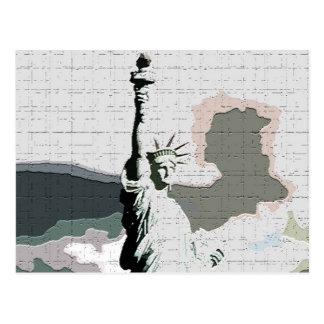 Estatua del arte pop de la libertad postal