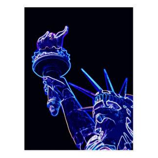 Estatua del arte pop de la libertad tarjeta postal