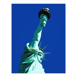 """Estatua del aviador de la libertad folleto 8.5"""" x 11"""""""
