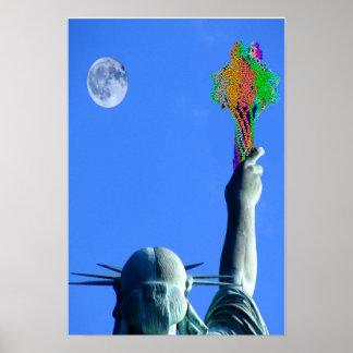 Estatua del bacteriófago póster