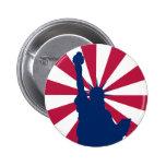 Estatua del botón de la libertad pins