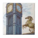 Estatua del caballo de la torre de reloj de Big Azulejo Cuadrado Pequeño
