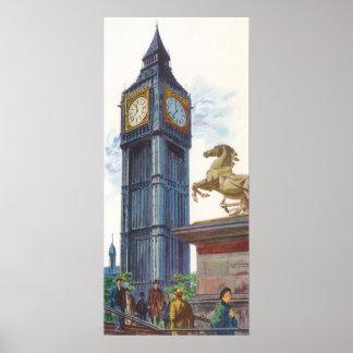 Estatua del caballo de la torre de reloj de Big Póster