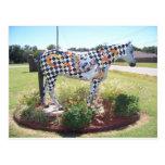 Estatua del caballo tarjeta postal