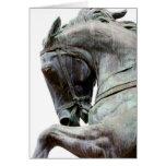Estatua del caballo tarjetón