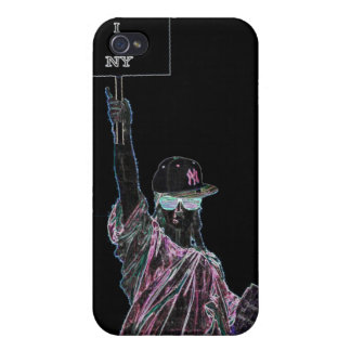 """Estatua del caso de la libertad """"amo NY"""" iPhone 4 Cobertura"""