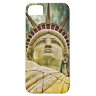 Estatua del caso del iphone de Nueva York de la li iPhone 5 Cárcasas