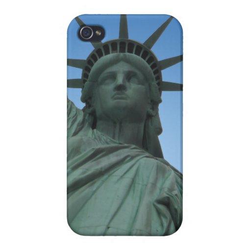Estatua del caso NYC del iPhone 4 de Nueva York de iPhone 4/4S Fundas